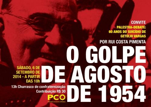 convite - Palestra-debate O golpe de agosto de 1954