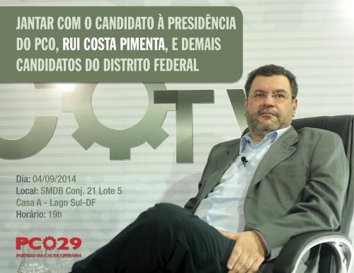 Jantar com o candidato à presidência do PCO, Rui Costa Pimenta