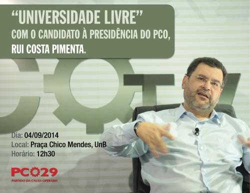 universidade livre - com o candidato à presidência do PCO